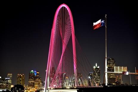 Dallas Skyline Calatrava Bridge